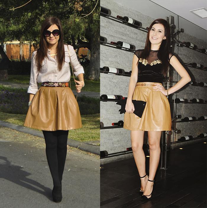 dos looks una falda