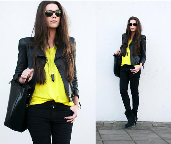 Donde comprar saco amarillo mujer