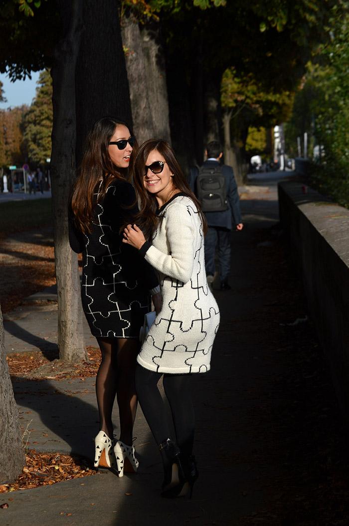 tanarendon paris fashion week puzzle dress