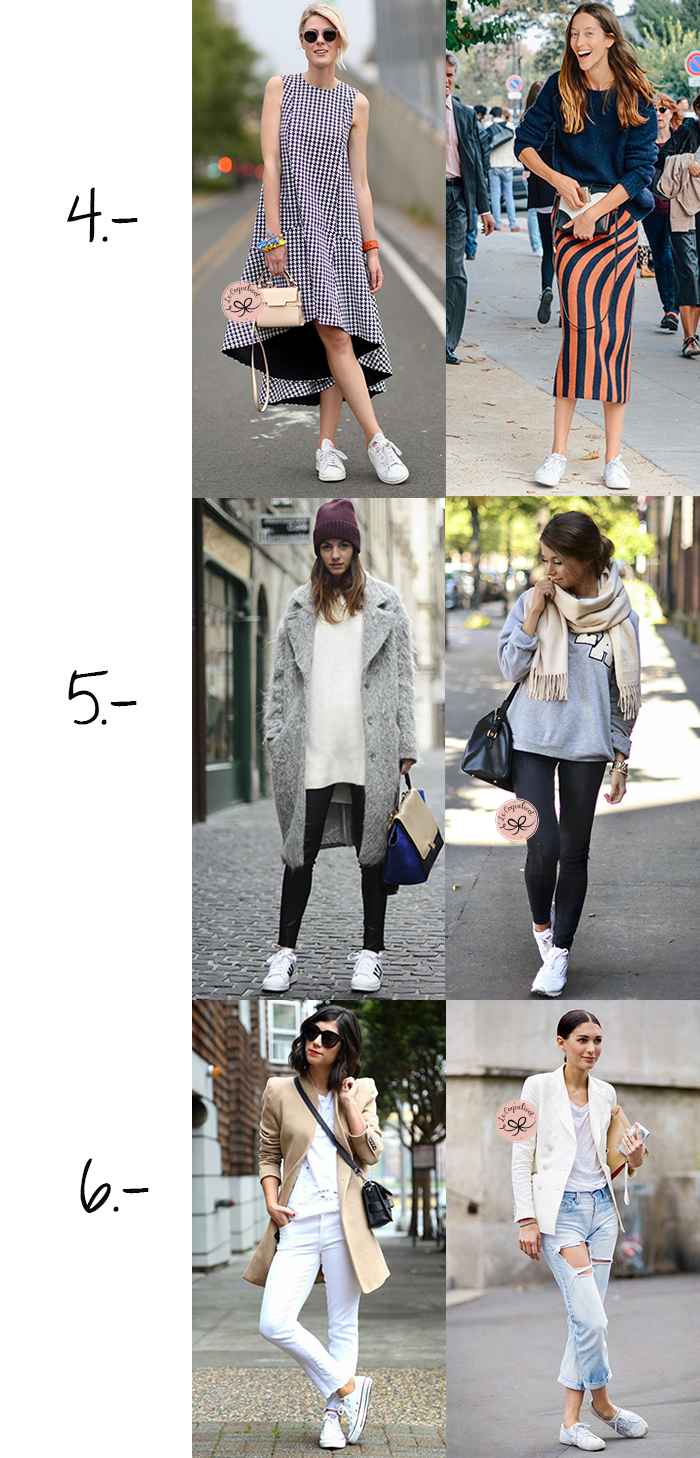 looks chic how to wear white sneakers tips fashion